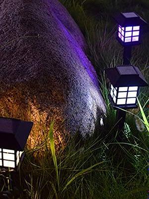 Estaca Solar Farol iluminación Jardín