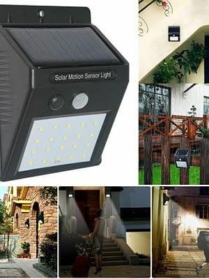 Foco Solar iluminación Led con sensor de movimiento