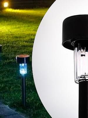 Estaca Solar Pack x 10 Farol iluminación Led Lampara Jardin