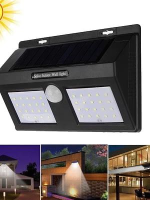 Luz Foco Solar Exterior doble 80 LED