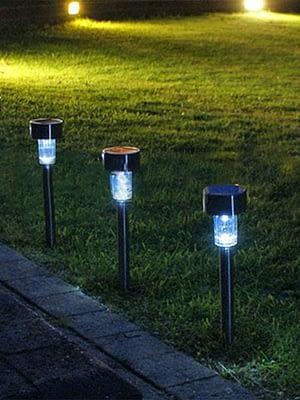 Estaca Solar Farol iluminación Led luz Lampara PACK X 2